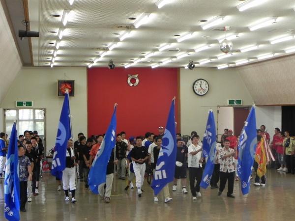 選手団入場:ソフトボール開会式